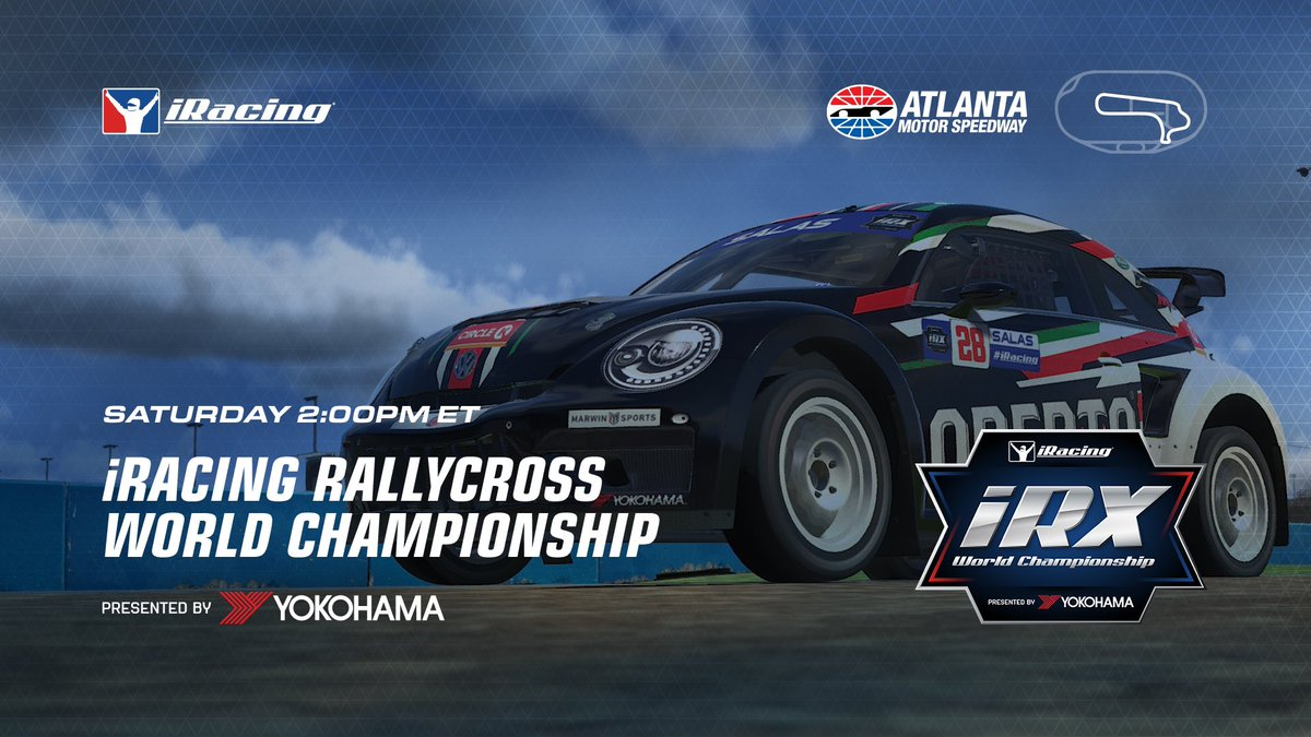 We've got another round of @iRacing iRX coming at ya today.   Join us live on Facebook at 2pm ET to cheer on the #AllAndretti duo of @vicente_salas14 & @BeauAlbert06! https://t.co/SSUhPq3QlI