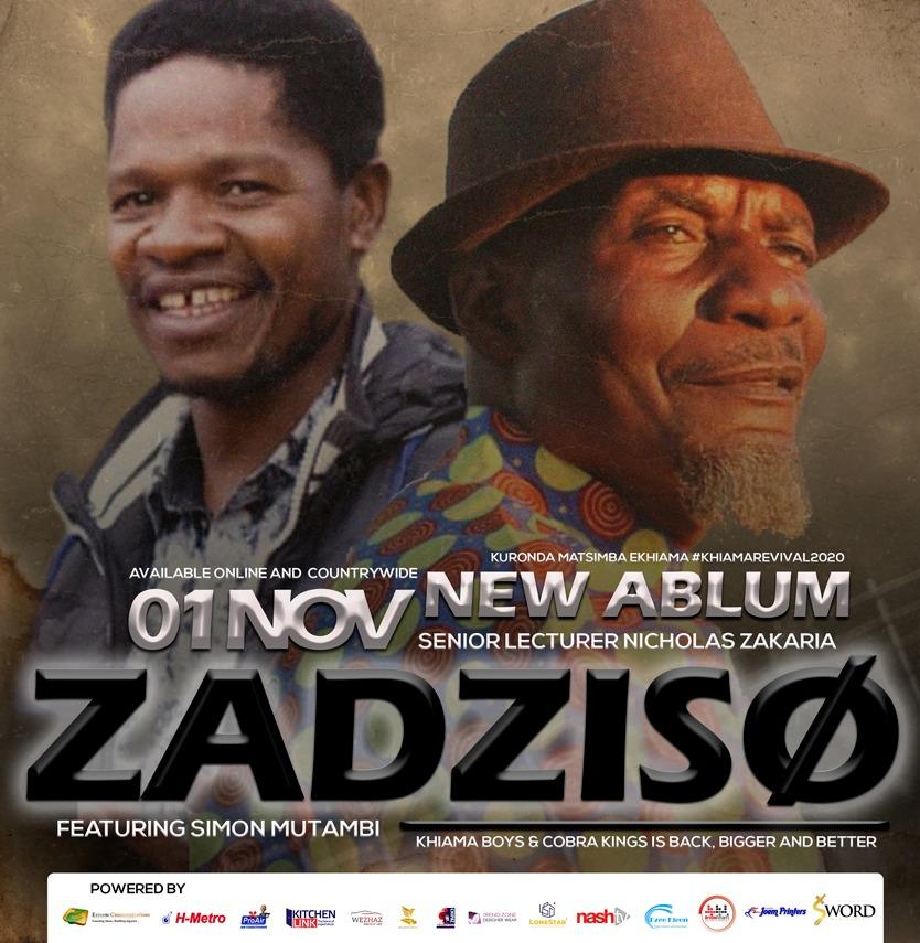 #newalbumalert #originalkhiamsound November 1 launch at Zebra Village Mbare and November 13 launch on Nashtv. #Zadziso2020 @HMetro_ @NashTvZimbabwe @Mavhure @WezhazC @zone_wear @EsteemCommunic1 @SunguraCentral @larry_moyo @restmutore @Wamagaisa