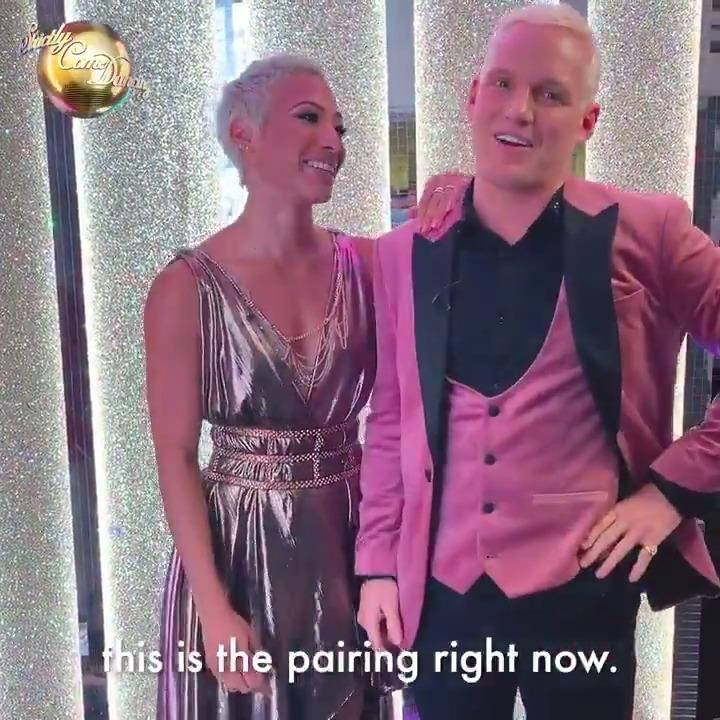 Its the blonde leading the blonde 🤩 Team KAREN AKA @JamieLaing_UK and @karen_hauer is happening! #Strictly