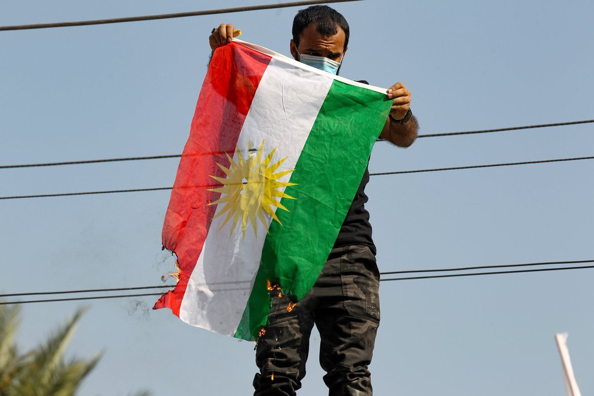 Today's attack on KDP Office in Baghdad & disrespect to #Kurdistan's flag, like previous attacks on diplomatic missions, is despicable & must be condemned in the strongest terms. All sides must act rationally to defuse & contain the situation. Culprits must be brought to justice.