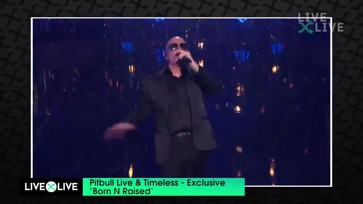 A sneak peak of what's to come tonight...  Who's ready for #PitbullLiveAndTimeless Show 2?! 😎🔥 Get your tickets NOW and watch the show at 8pm ET on LiveXLive:   @pitbull #Pitbull