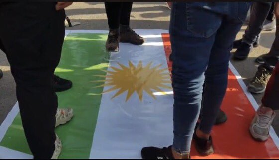 The outrageous burning of the #KurdistanFlag by outlaws groups in Baghdad wont stop us seeking to settle our differences with our friends in #Iraq or continuing to uphold the need for peaceful coexistence between #Kurds and #Arabs. We condemn this despicable act