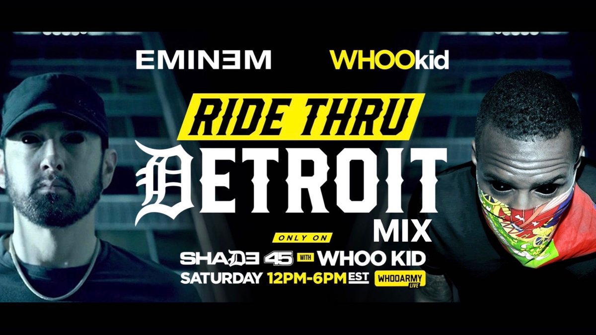 Replying to @ShadyRecords: Tune into @shade45 today! @eminem @DJWhooKid 12-6pm ET