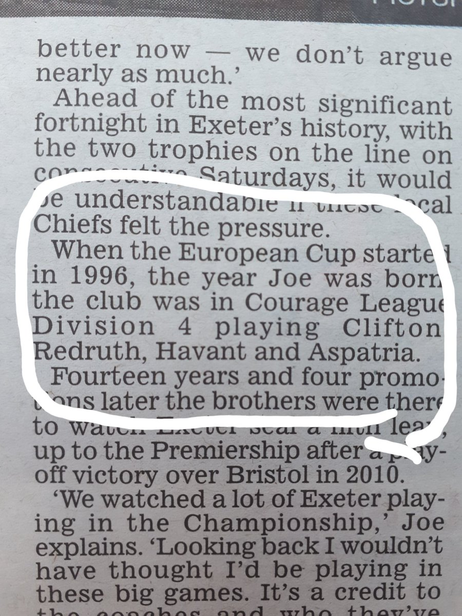 An article in the Daily mail today ahead of the Champions cup final Exeter v Racing 92. Featuring  @TheBlackReds from back in the day #ChampionsCupFinal #EXEvR92 🏉 https://t.co/vtbHCP29WS