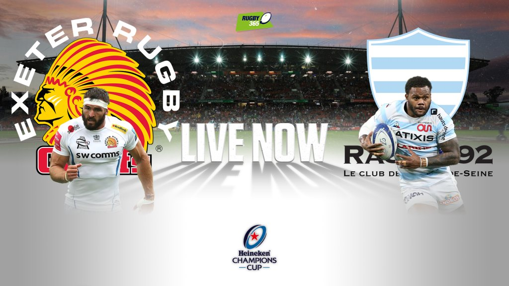LIVE NOW: Exeter Chiefs v Racing 92 https://t.co/eiaCvGbRAt https://t.co/IAIBGKvgFV