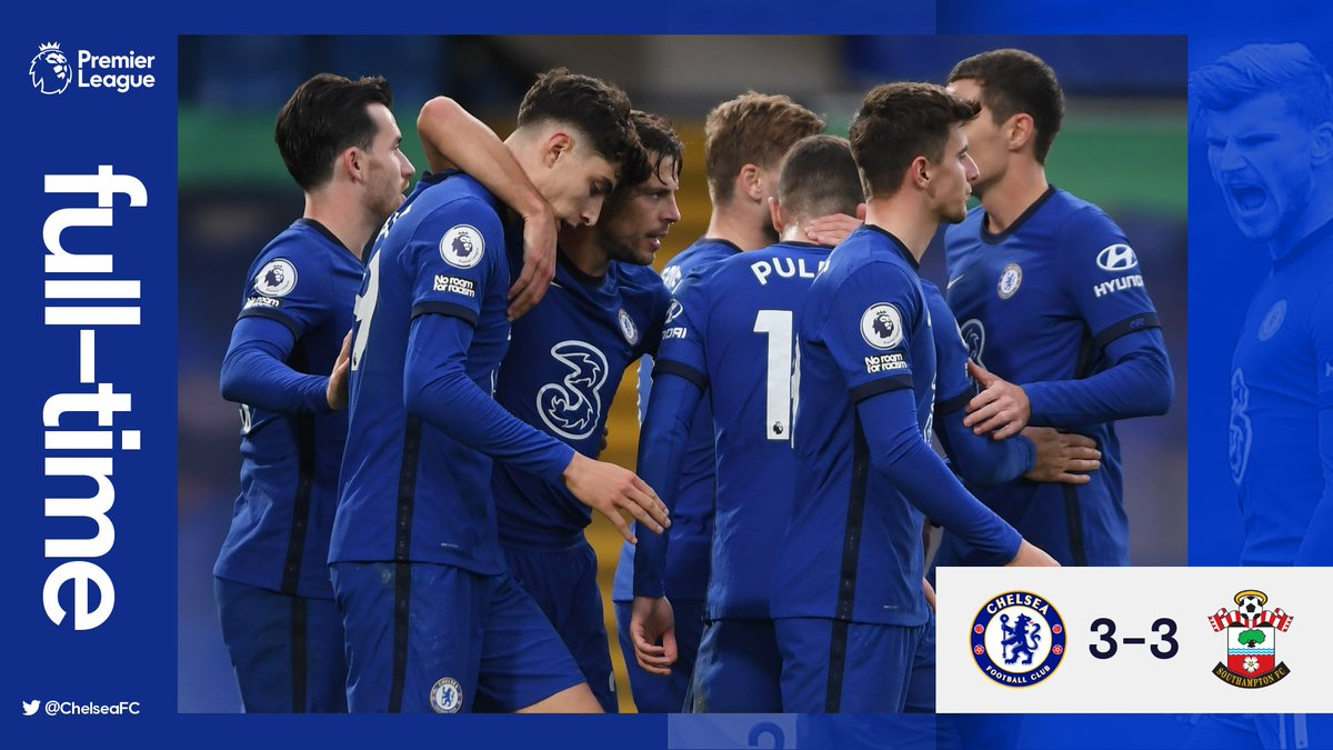 Full-time: The points are shared.   #CHESOU https://t.co/fLSeEemRQM