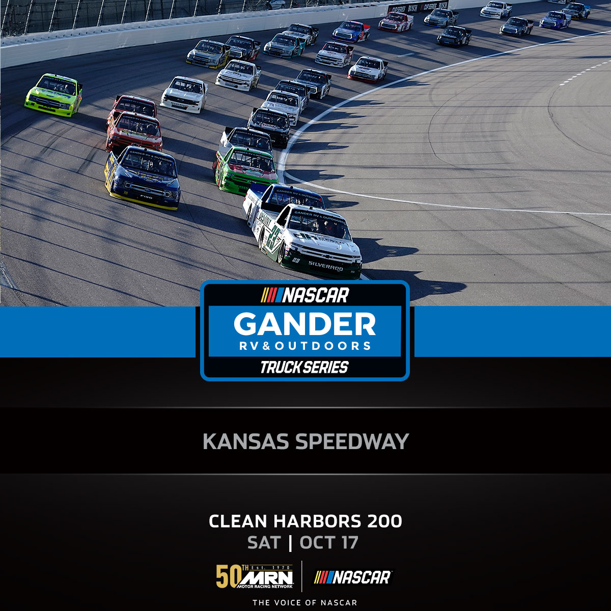 WE ARE LIVE @kansasspeedway for the #CleanHarbors200 📻: Local Affiliate: bit.ly/2MfJ5XI 💻: bit.ly/MRNbroadcast #NASCAR Mobile 📱:nas.cr/2qeyRNK @SIRIUSXM Channel 90 @REradioz Scanner: 454.000 #AskMRN | #NASCARPlayoffs