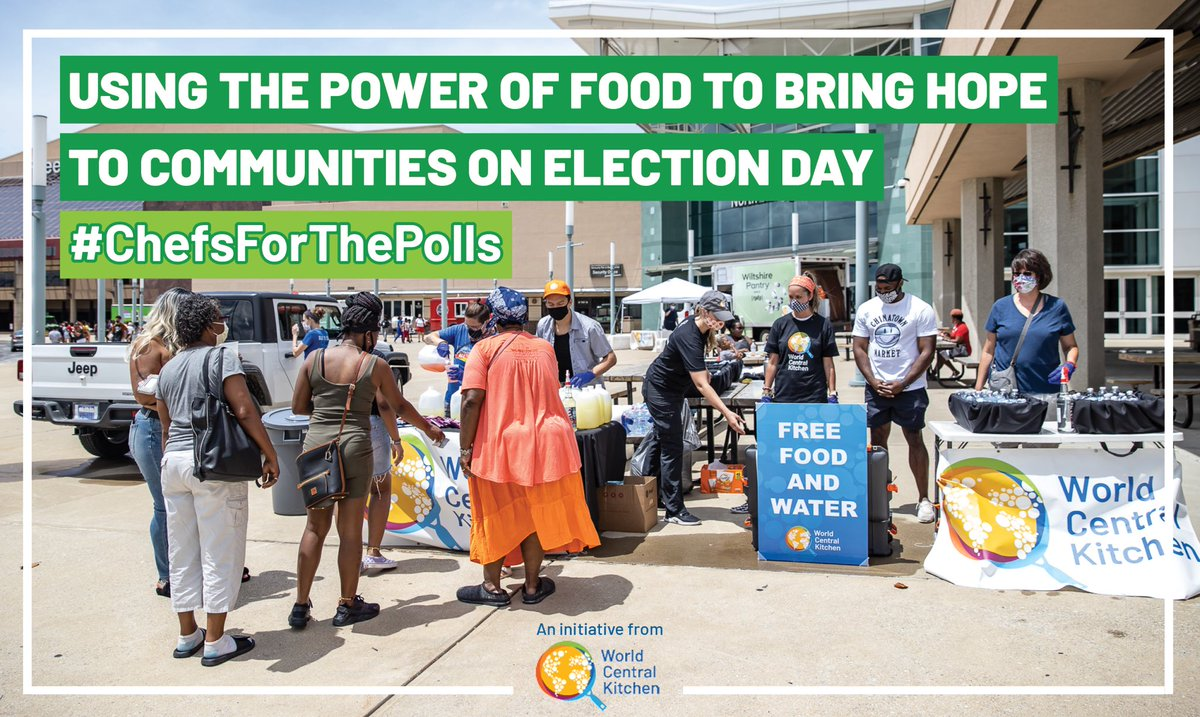 Today, I'll be at the polling station at the Algiers Courthouse in New Orleans with the @WCKitchen @chefjoseandres distributing FREE food, lending support. Maybe see you there. VOTE TODAY, wherever you may be?! No Vote - No Voice #freefood #voterrights #votetoday #2020election https://t.co/VMJY1HGTCW