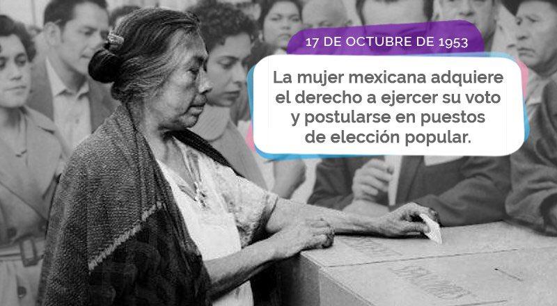 Después de una ardua lucha, las mujeres mexicanas adquirieron plenitud de sus derechos civiles y políticos. Este fue un gran paso en el proceso de democratización del país. https://t.co/yBQ8FuNTFo