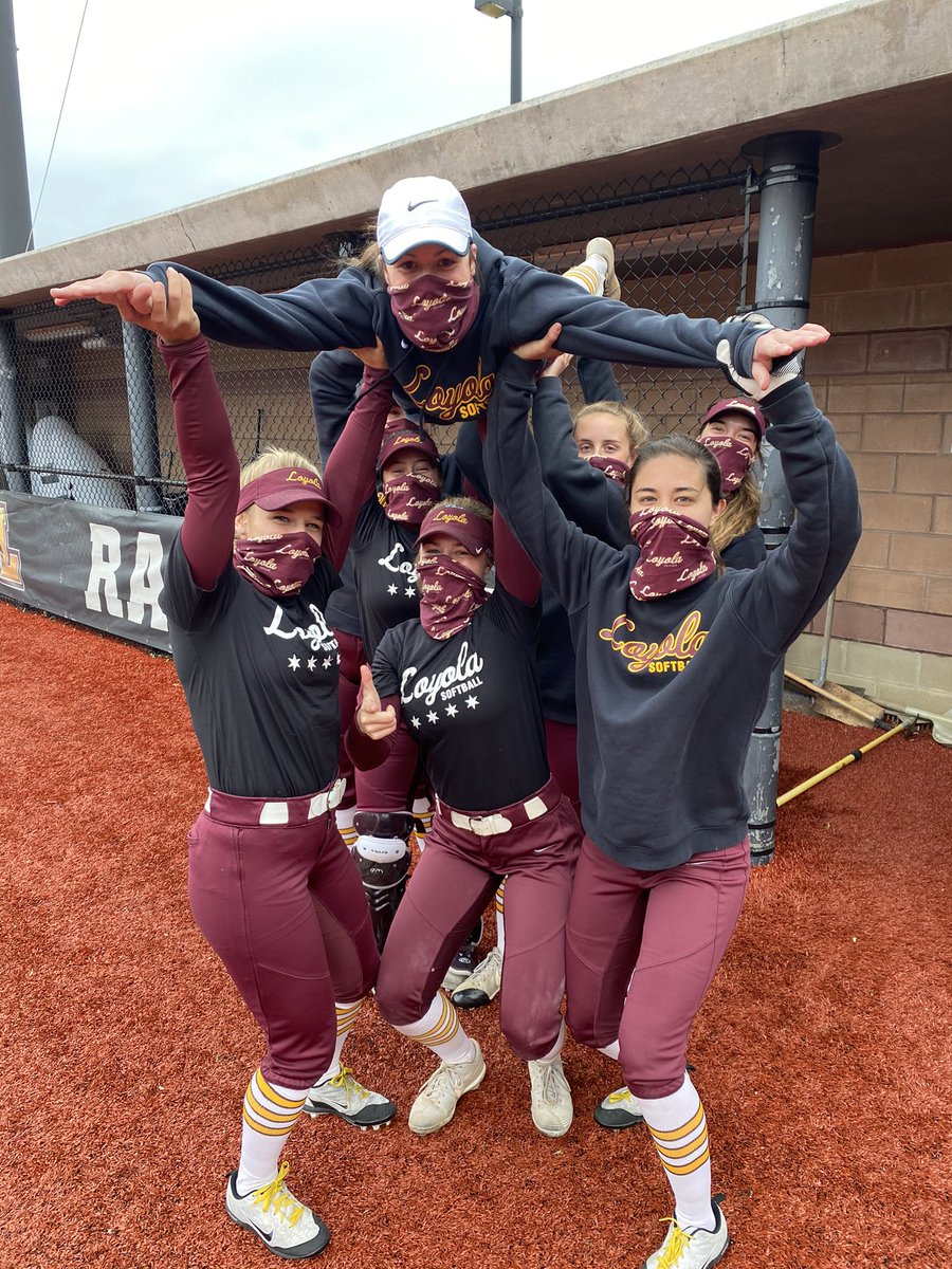 """Scrimmage Day! Who do you think won? Pic 1: Team Toucans or Pic 2: Team Oompa Loompas (can't forget to shout out our awesome """"umpires"""" in Pic 3- you guys rock!) #OnwardLU https://t.co/q9aaP5ufI8"""