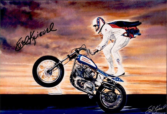 The Man, the myth, the legend.. Evel would have been 83 today. Happy Birthday Evel Knievel October 17, 1938.