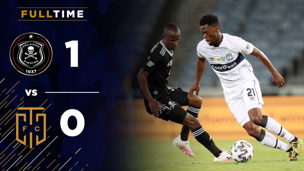 Full Time Orlando Pirates 1 0 Cape Town City South Africa Mtn8 Cup October 17 2020 Football365