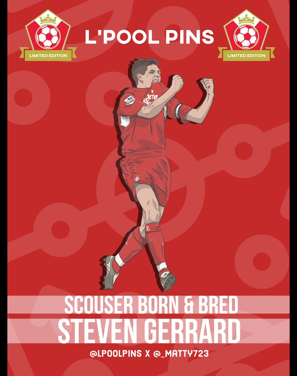 I urge you all to follow @LpoolPins   Some really cool pins on their way out soon I promise...  Here's just one sneak look what is to come...  #LpoolPins #Matty723 #LFC #Gerrard #LFC #lfcfamily #ynwa #ScouserBornAndBred #StevenGerrard #christmas https://t.co/z0iaSsZcma