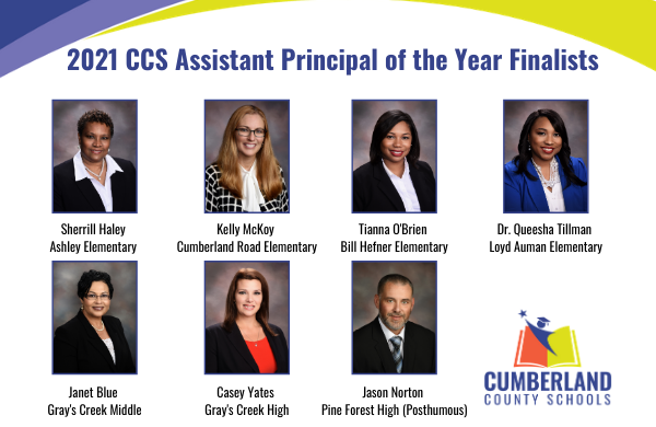Congratulations to CCS 2021 Assistant Principal of the Year Finalists! Find out who the winner is on Monday, October 19 at 6:30 p.m. during the 2021 Administrators of the Year Virtual Celebration of Excellence in Leadership at: youtube.com/user/Cumberlan….