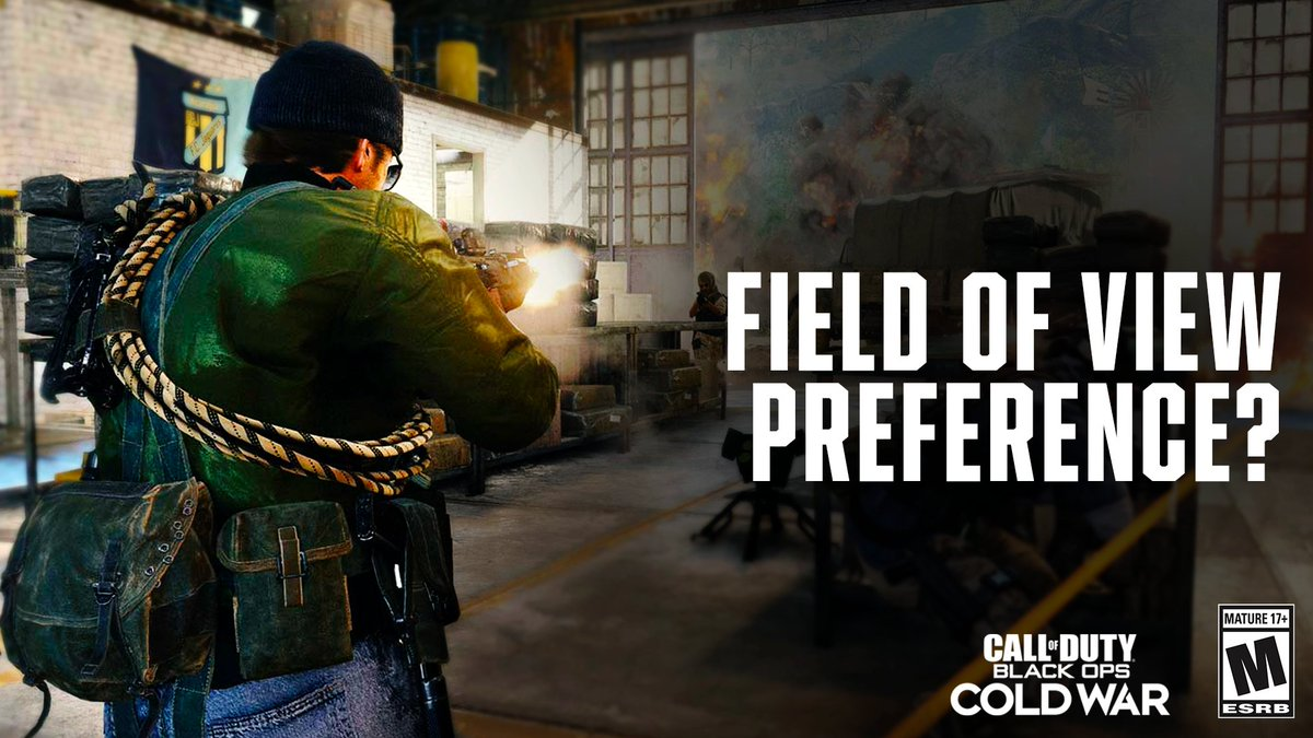 #BlackOpsColdWar brings a Field of View slider to all platforms. What FOV setting are you playing at? https://t.co/idKWVCB0PL