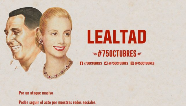 """🔝Denuncian hackeo a la plataforma @75octubres  Organizadores del acto virtual por el #DíadelaLealtad denunciaron hoy """"fuertes ataques a la plataforma"""" especialmente diseñada para conmemorar el 75 aniversario del 17 de octubre de 1945.  https://t.co/JwjEP3xXxS https://t.co/Ib0udkzTnT"""