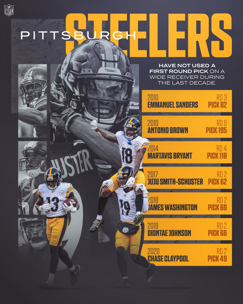 WR factory in the Steel City. @steelers | #HereWeGo 📺: #CLEvsPIT— Sunday 1pm ET on CBS 📱: NFL app // Yahoo Sports app