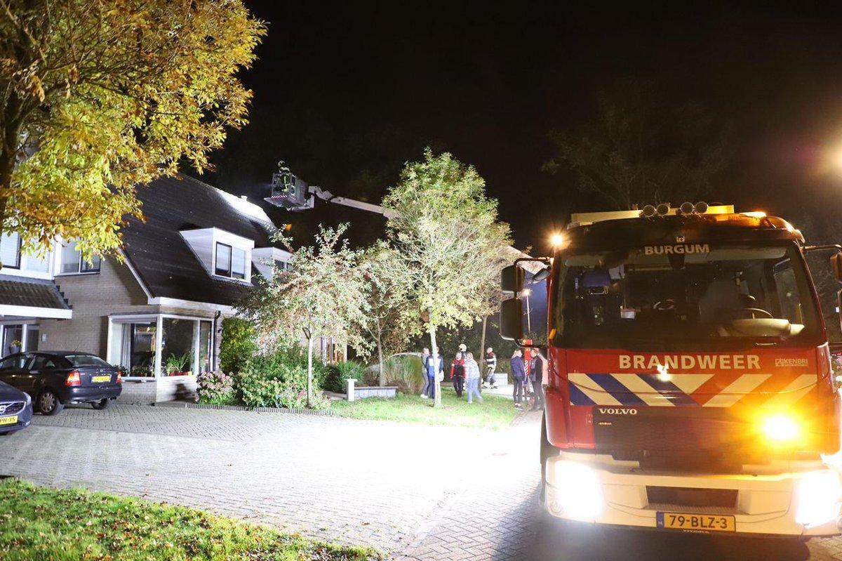 Korte schoorsteenbrand in Burgum - #Friesland -..