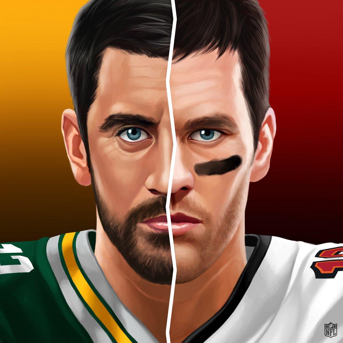 Rodgers. Brady. Two of the best meet again. 🍿 📺: #GBvsTB -- 4:25pm ET on FOX 📱: NFL app // Yahoo Sports app