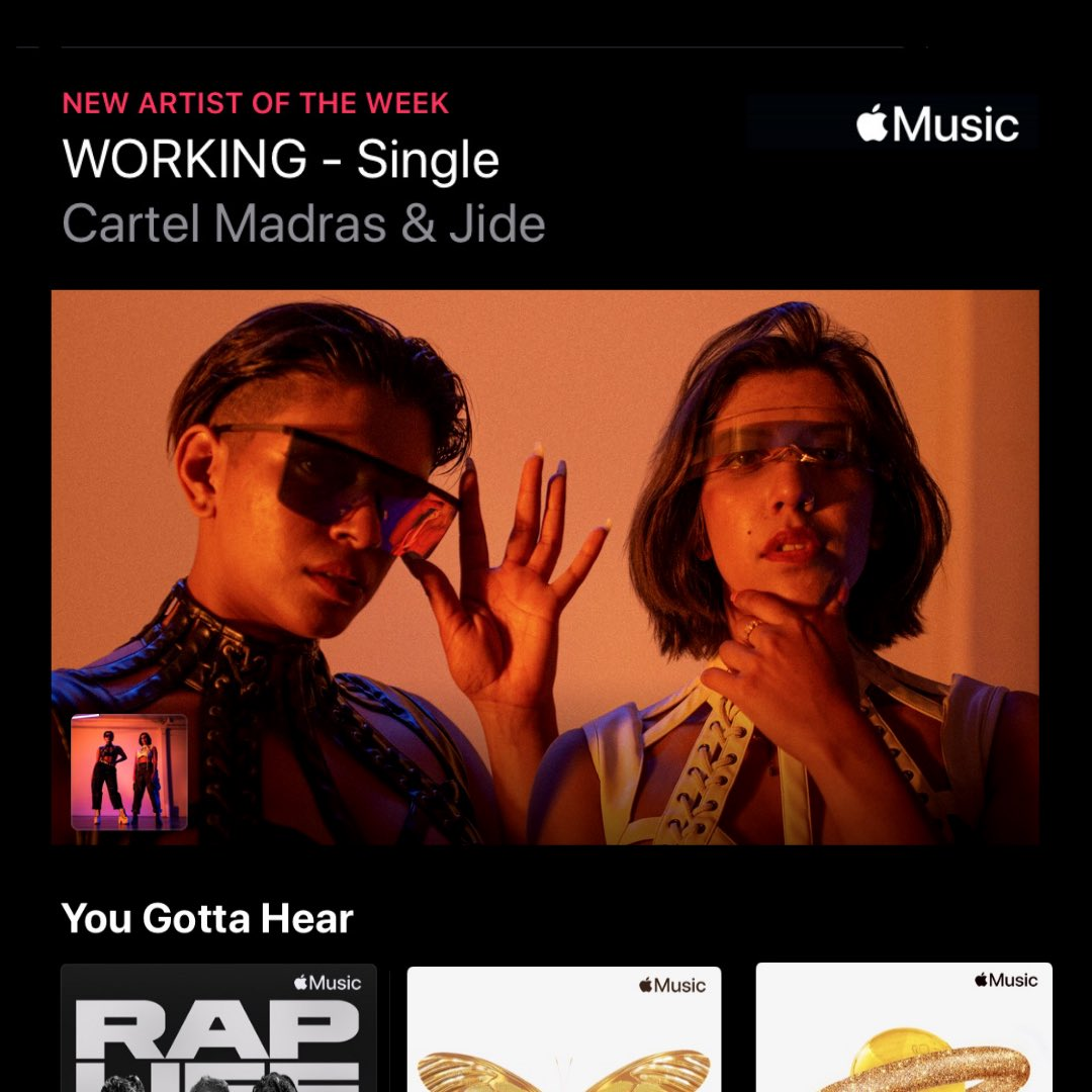 YO! Woke up to find that we're @AppleMusic New Artist of the Week 🤯🤯🤯🤯