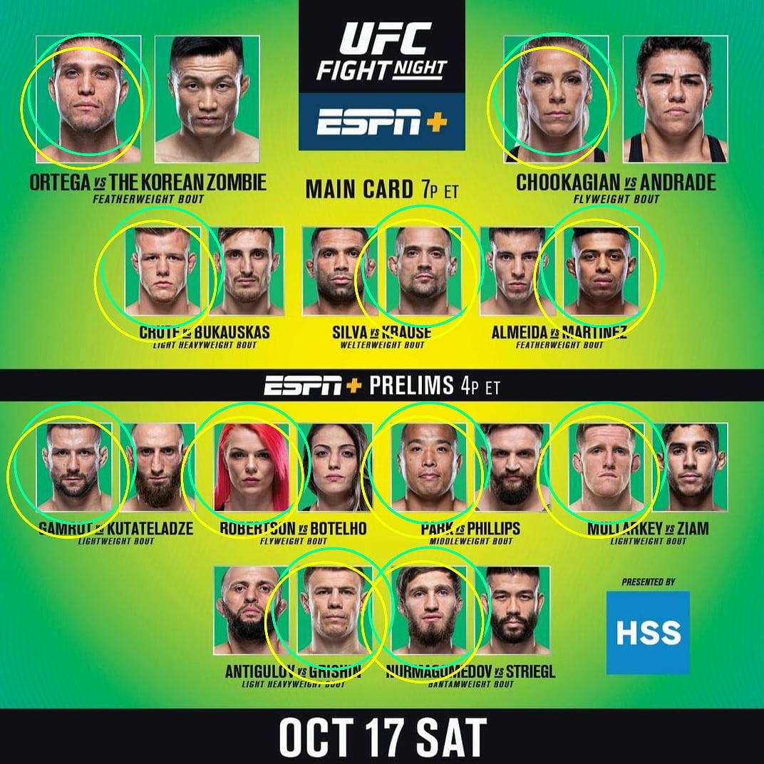 Pickin Picks - So many people sleepin on TCity!  Upsets of the night - Brian Ortega, Katlyn Chookagian & Jonathan Martinez  #UFC #UFCFightIsland6 #UFCFightIsland #FightIsland #YasIsland #AbuDhabi #UFCFightNight #ESPNPlus #UFConESPN #UFCPicks #UFCPickin #Bet #Betting #Gamble #BJJ https://t.co/6c80G5ipcq