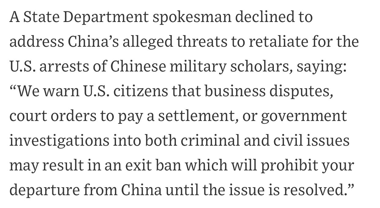 China warns it will detain American nationals following DOJ prosecution of Chinese scholars: report Photo