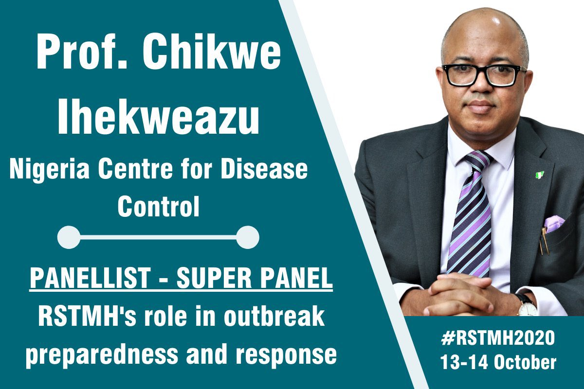 Last week, DG @Chikwe_I & Lassa fever IM, @chiomadannwafor joined panelists at the @RSTMH Annual Meeting themed Emerging Diseases & Outbreaks #RSTMH2020 provided an opportunity to share lessons learnt from previous outbreaks & improvements for outbreak preparedness & response.