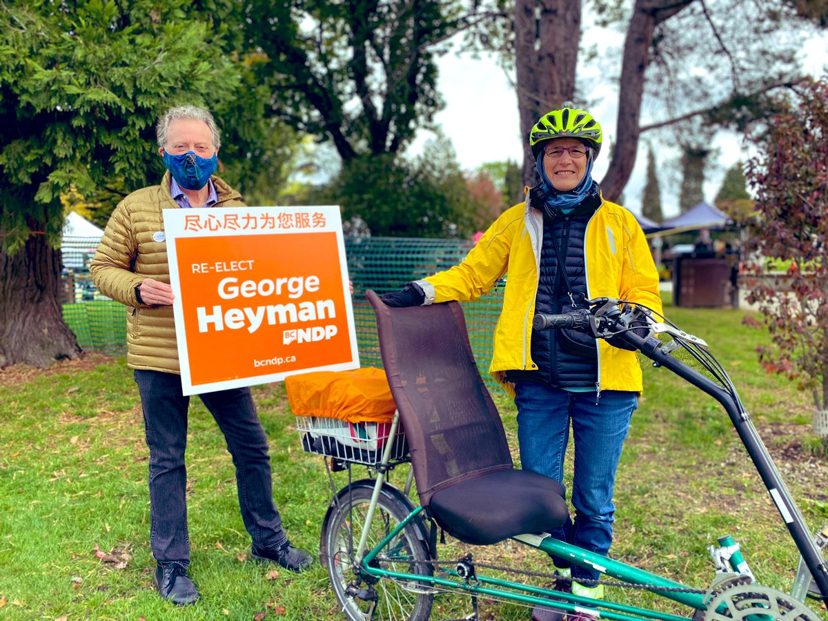 Wow! #RileyPark Farmers Market mainstreeting was especially nice - great to see #sustainable #local food producers supported & thriving  Proud of the work @lanapopham has done to promote #BuyBC and healthy nourishing foods.   Amazing #VancouverFairview community. #BCElection2020 https://t.co/upGfgkChWw