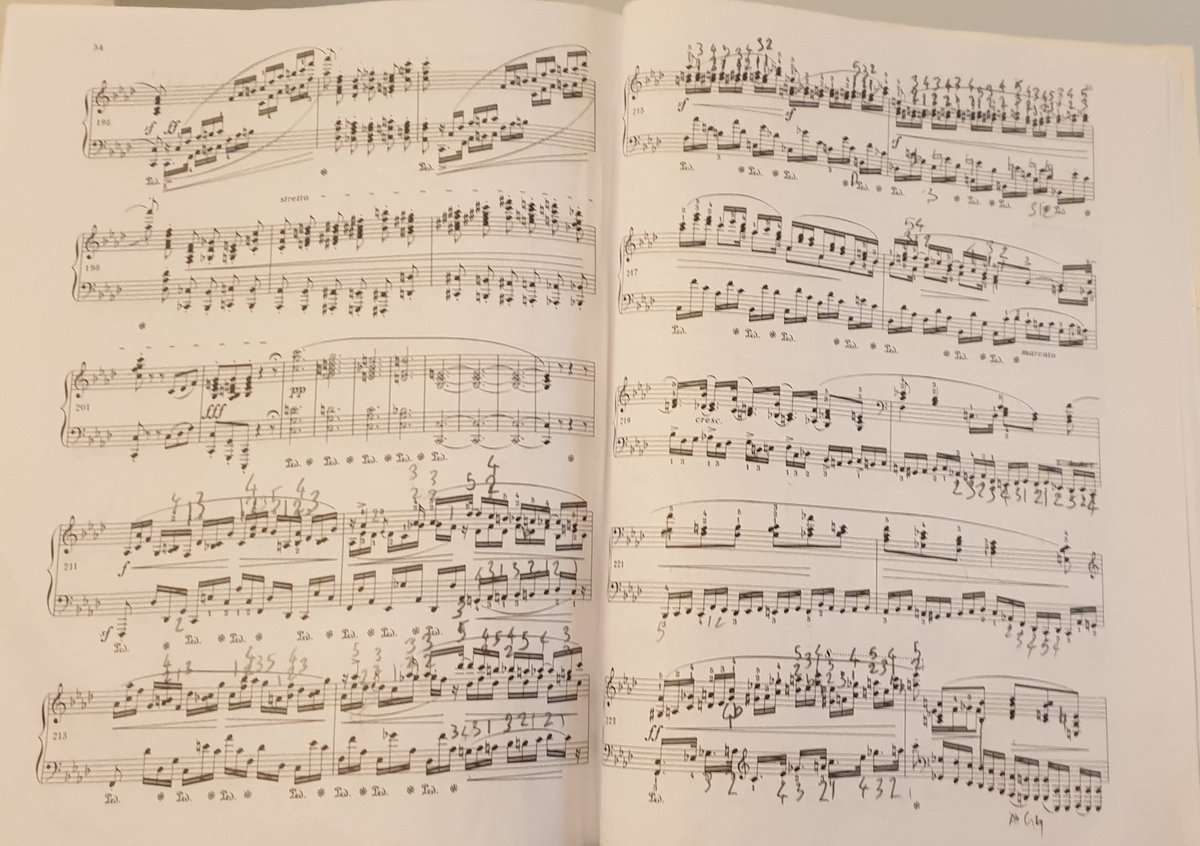 Evening's work is to get these last 3 pages up to tempo - just a few notes... #Chopin4thBallade