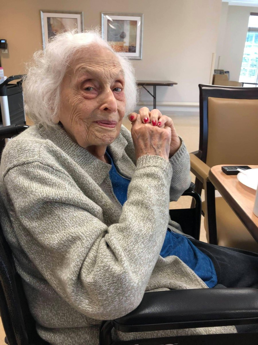 """Grandma Pearl is 101. She survived #COVID19 & has been in her nursing home w/o visits. She voted for @JoeBiden & has voted in EVERY election since FDR's 3rd term: """"In the 80 years I've voted, it's never mattered as much as today."""" #belikegrandmapearl cc: @BarackObama @gtconway3d https://t.co/ZGp55S5kD9"""