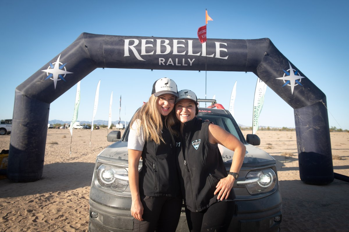 Meet the X-Cross champions of the 2020 Rebelle Rally!  🥇1st place: Team #201 Shelby Hall/Penny Dale 2021 Ford Bronco Sport 🥈2nd place: Team #205 Sabrina Howells/Alyssa Roenigk 2020 Kia Telluride 🥉3rd place: Team #207 Rachael Ridenour/Kristie Levy 2020 Mitsubishi Outlander PHEV https://t.co/uF81E4aCjF