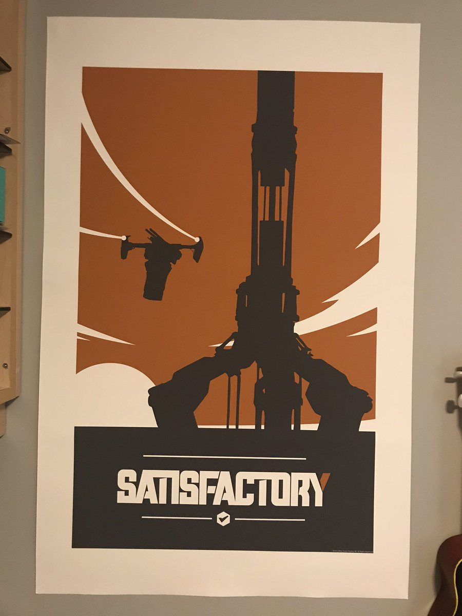ah what a fine addition to my corner of video game junk i probably payed way too much for @SatisfactoryAF https://t.co/WvisvyvfTT