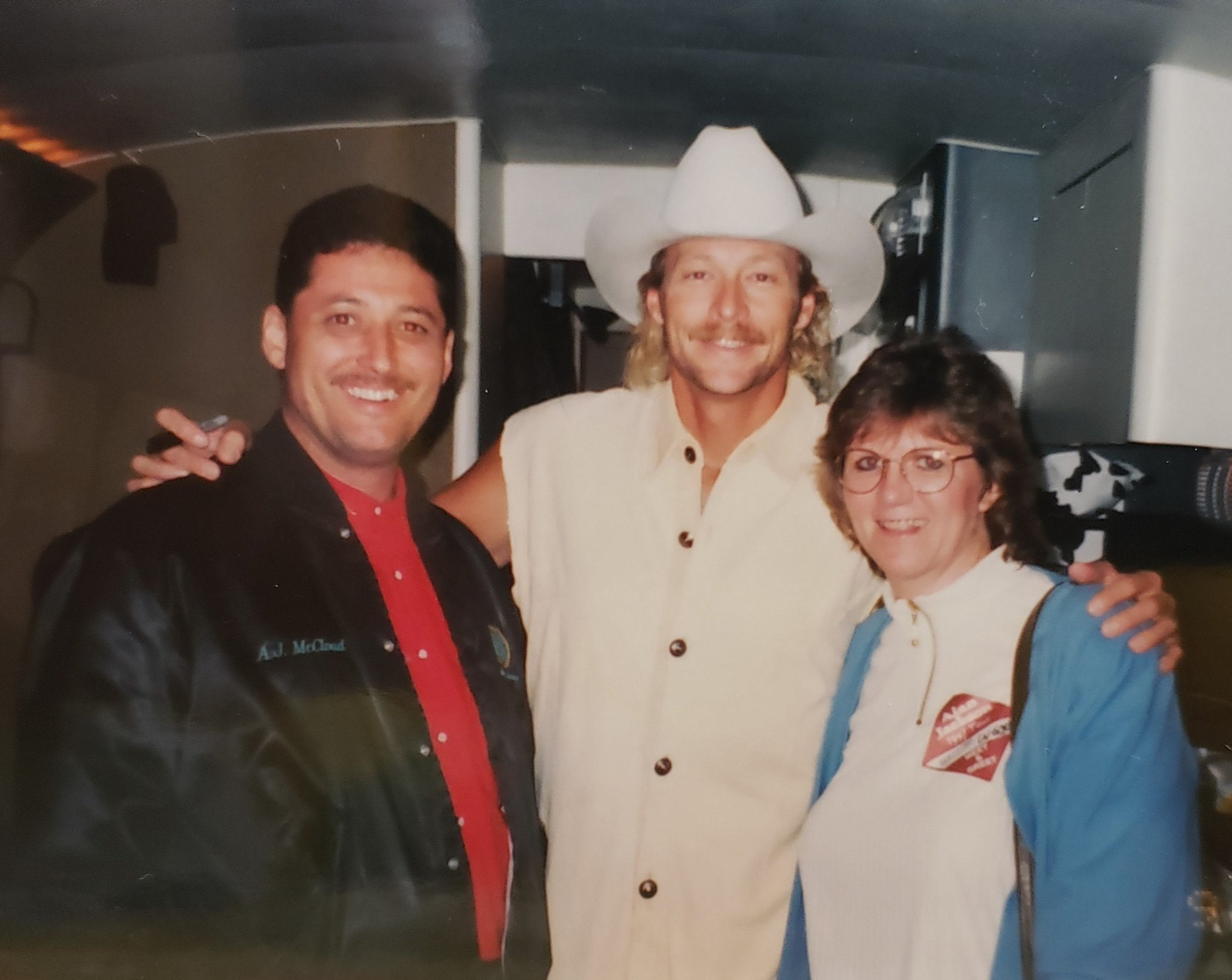 Happy Birthday Alan Jackson. This photo was taken in the 1990s at Star Lake Amphitheater in Burgettstown, PA.