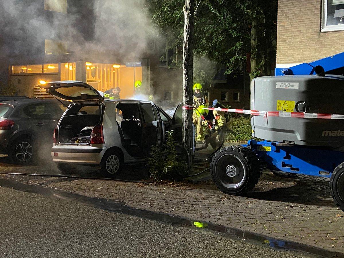 De brandweer is zaterdagavond twee keer uitgerukt naar een brand in dezelfde buurt.