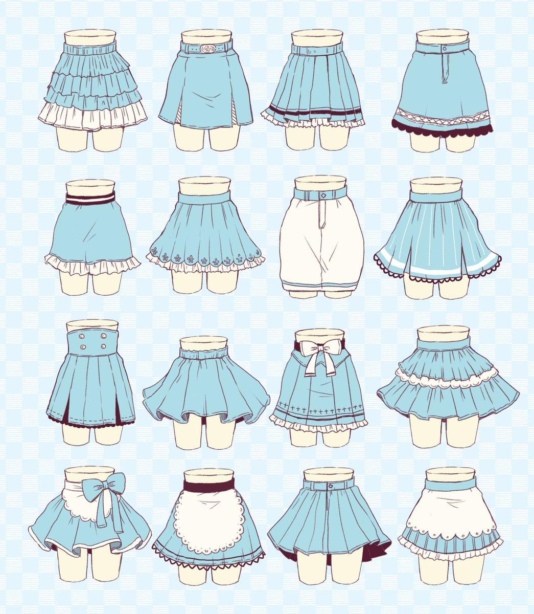 可愛いスカートの作画資料 #ミニスカートの日