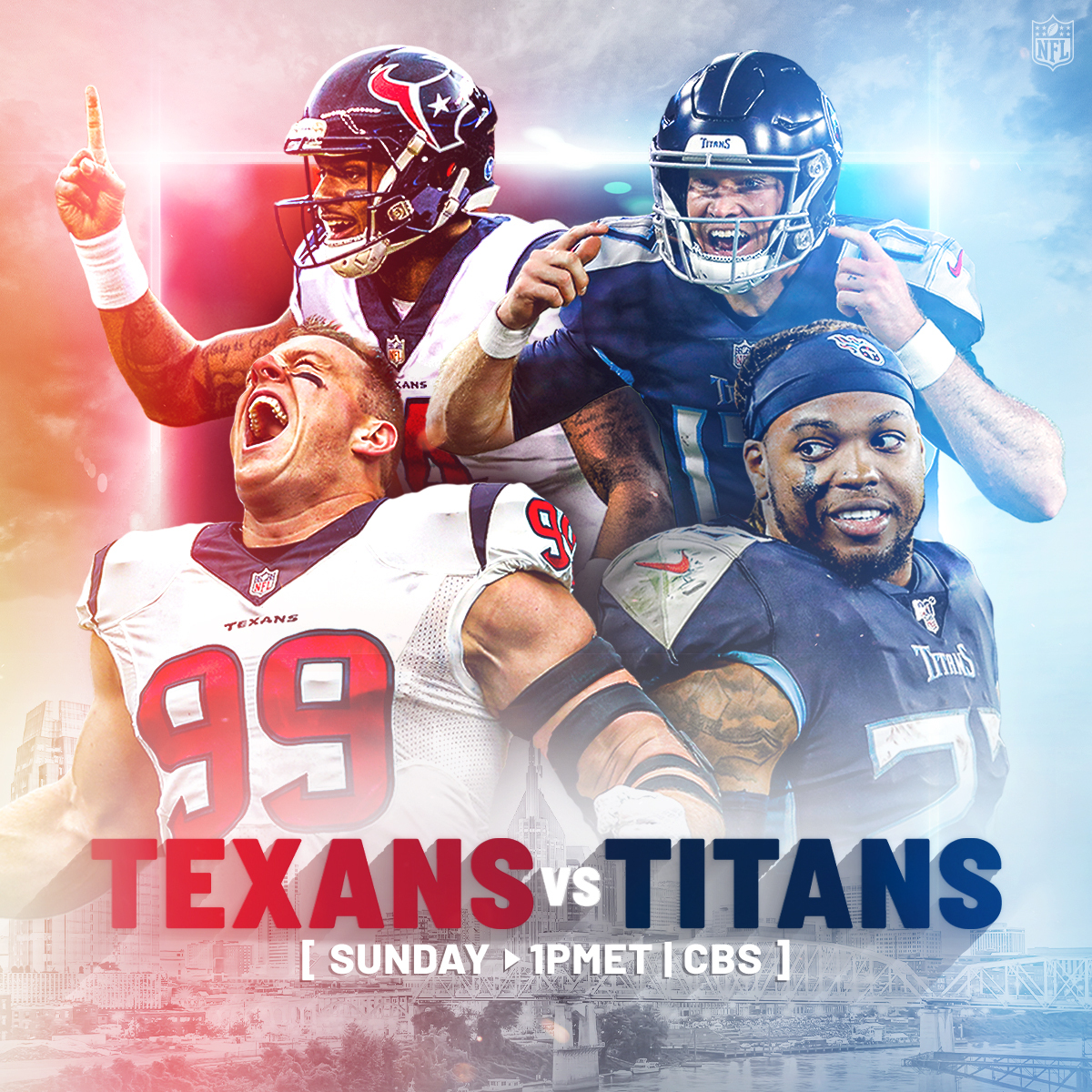 The @Texans take on the undefeated @Titans in an AFC South matchup! 📺: #HOUvsTEN — Sunday 1pm ET on CBS 📱: NFL app // Yahoo Sports app