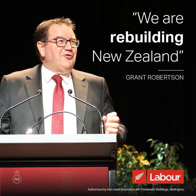 Grant Robertson has just announced the incoming Labour Government's main priority will be rebuilding and repairing the economic damage caused by the previous Labour Government 😂🧐  #nzpol #nzelection2020 #yourvote2020 https://t.co/Yw8eg1x7F8