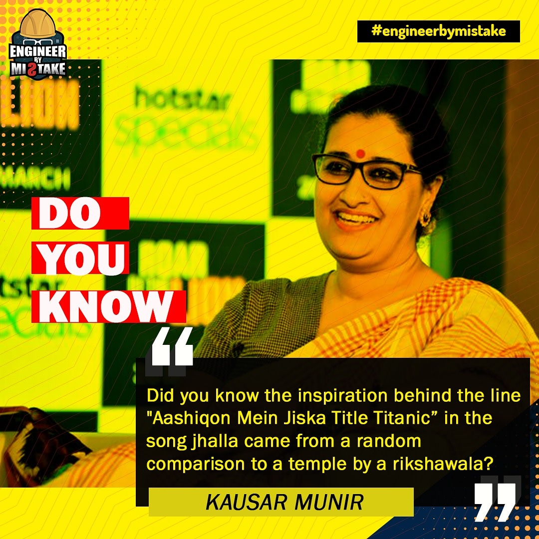 Graduated in English literature @KausarMunir always had a passion for music.   She started her work in the television industry as a lyricist in Jassi Jassi Koi Nahi.🙏🙏   She is our superstar of the day. ❤️❤️  #kausarmunir  #lyricist  #GunjanSaxena  #Bollywood