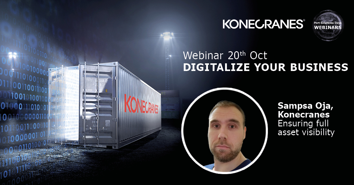 "What happens when you can see how your container handling equipment is performing, all the time, at any moment? Sampsa Oja will tell you. Register to our ""Digitalize your business"" #webinar happening on October 20. Click the link here: https://t.co/1yLzu71gOd #portsolutionsdays https://t.co/jkMFmXhhjb"