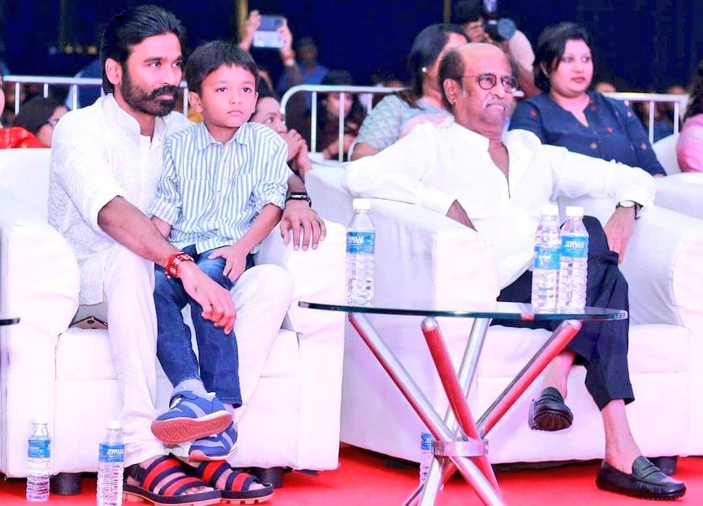 Good morning to all happy Sunday 💓  Thalaivar @dhanushkraja superstar  @rajinikanth  With Singa kutty 🦁 #linga   #JagameThandhiram #karnan #AtrangiRe https://t.co/oaxJiyprof