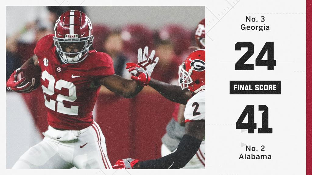 The Tide roll over Georgia to stay perfect 🙌 https://t.co/cwQcsGqQIJ
