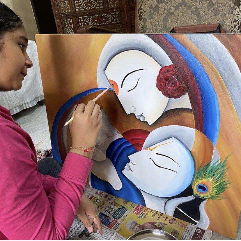 Student's work #smitartworkclasses #radhakrishn #krishna #radhakrishna #radha #radheradhe #radharani #sumedh #mallikasingh #radhe #sumedhmudgalkar #radhekrishna #official #vrindavan #beatking #love #kanha #krishn #lordkrishna #mallika #krishnalove #radheshyam #radhakrishnalove https://t.co/MA1uM29FPg