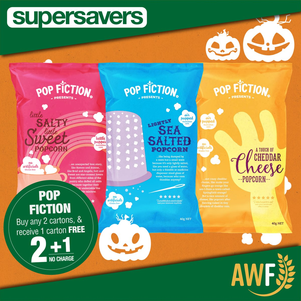 Did you know we are now selling #popfictionpopcorn ?   View it online: https://t.co/4JQiBKD4hX ------------- 📞 Call us: (08) 9041 1424 📧 Email: sales@allwaysfoods.com.au #supersavers #AWF #AllwaysFoods #warehouse #merredin #popcorn #airpopped https://t.co/OQnoyOTM5P https://t.co/Plu4OqX7vX