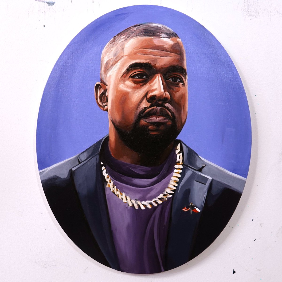 If you believe in me and think that @kanyewest should let me give him this painting; please retweet this. I am 100% determined to atleast get him to see this.