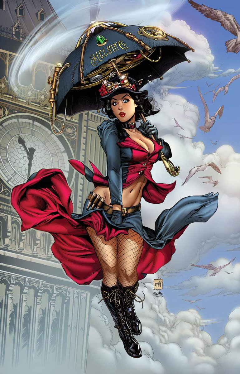 Mary Poppins Cosplay cover  by Mike Krome Art