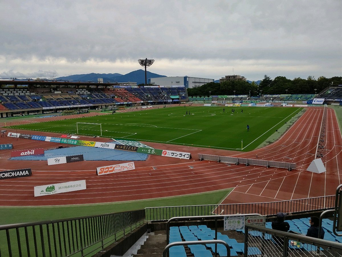 今日はここから (@ Shonan BMWスタジアム平塚 for Shonan Bellmare vs Kashiwa Reysol in 平塚市, 神奈川県) https://t.co/vltp9aJned https://t.co/M2hEDUGvx2