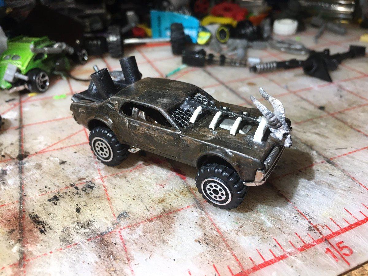 Progress shots - not done yet #carwars #gaslands #toymods #tabletopgames #tabletopgaming #ttrpg https://t.co/JxLadSkrkN