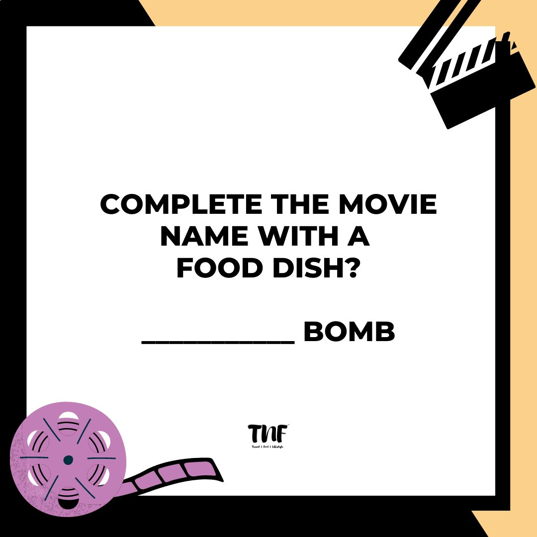 Complete the movie name with a food dish?  Interesting Answer only. 😅😂 . . . #movies #movie #film #cinema #films #hollywood #netflix #music #bollywood #moviescenes #cinephile #foodie #delicious #foodgasm #homemade #instagood #foodies #foodiesofinstagram #tnfonline #riddles https://t.co/xuq4gSmdw1