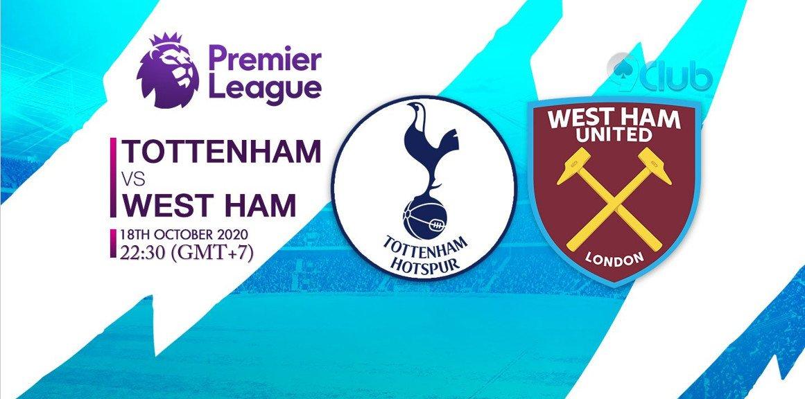 🏆🏆🏆 GIẢI BÓNG ĐÁ NGOẠI HẠNG ANH - ENGLISH PREMIER LEAGUE  🏆🏆🏆 ❤️🧡💛💚💙💜  ⚽ Tottenham Hotspur Vs West Ham United 🔔 18/10/2020 ⏰ 22:30 (GMT+7)  🔜Zalo: + 84396202978  #9clubvn #NgoạihạngAnh #Premierleague #Bóngđá #Thểthao #TottenhamHotspur #WestHamUnited https://t.co/wFZapCohLV