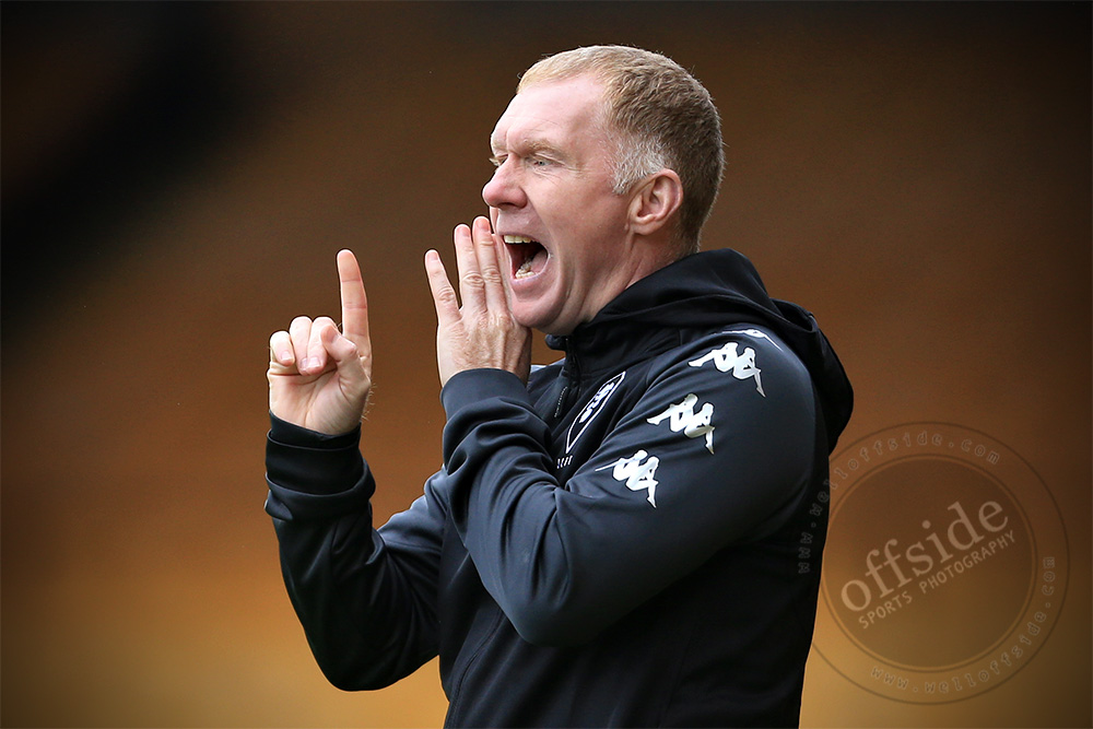 Paul Scholes took charge of @SalfordCityFC yesterday, but couldnt prevent the club he co-owns from losing 1-0 away to @OfficialPVFC at Vale Park | ⚽ 📷 for @welloffside